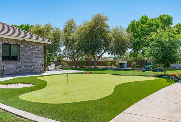 Home Putting Green stock photo