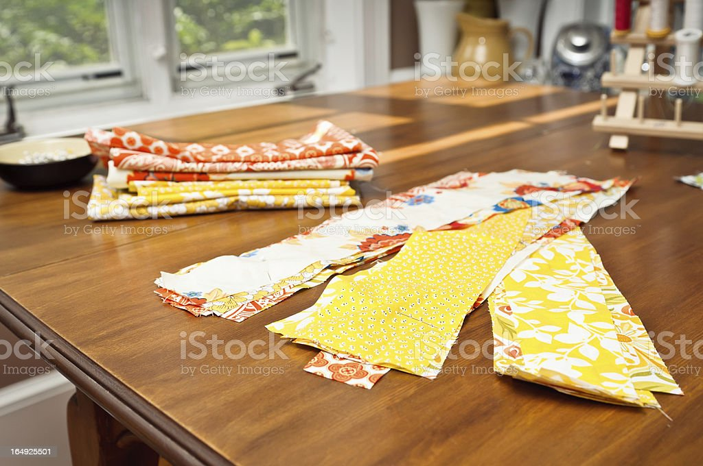 Home Quilting stock photo