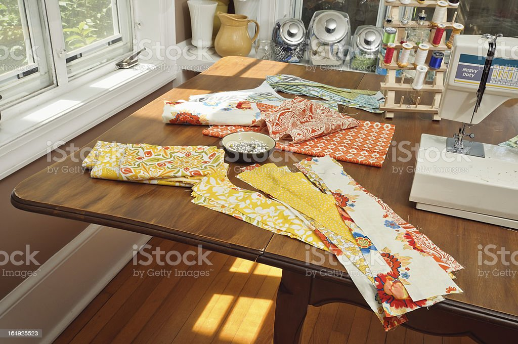 Home Quilting Station royalty-free stock photo