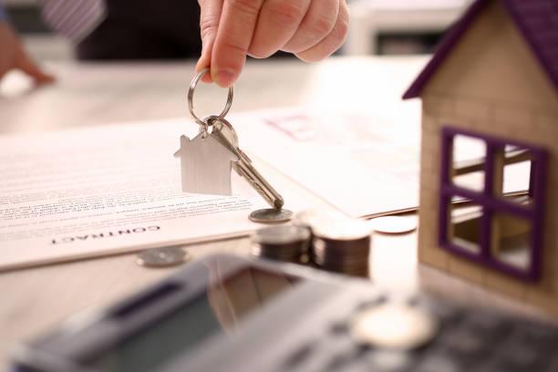 Home Real Estate Property Handover Sale Concept stock photo