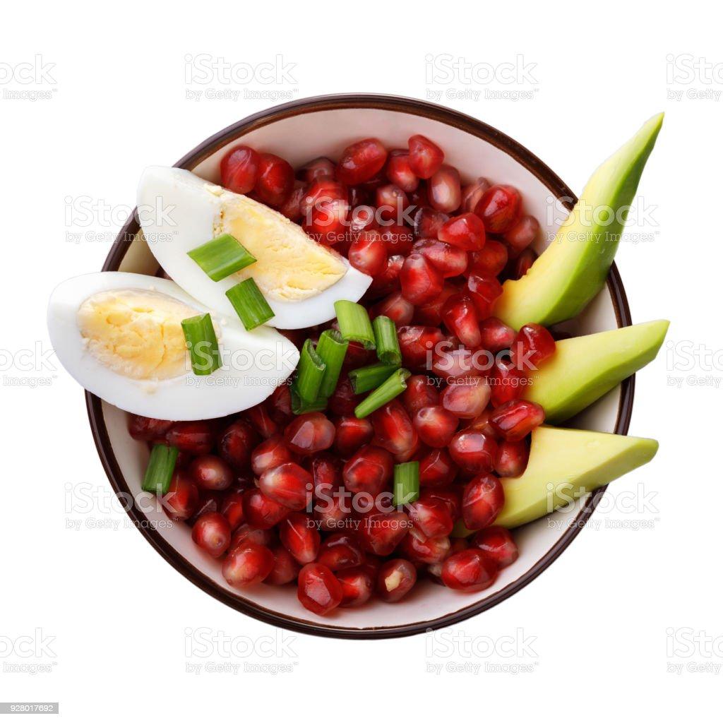 Inicio Recetas Ensalada De Aguacate Huevos Y Granadas