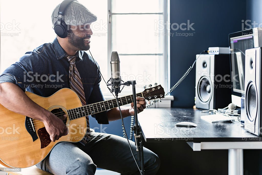Home Recording Musician Series royalty-free stock photo