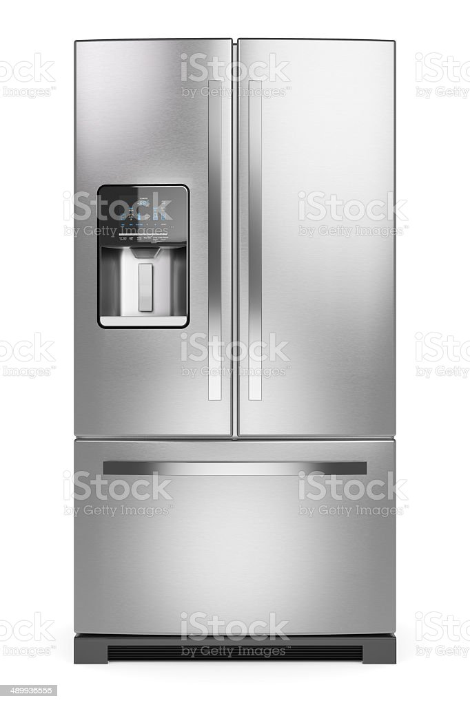 Home refrigerator. stock photo