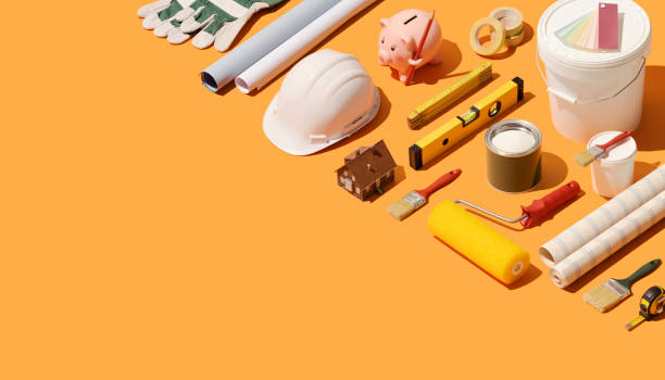 home renovation and construction - tools zdjęcia i obrazy z banku zdjęć