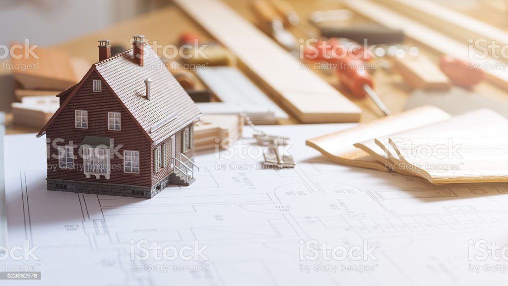 Home renovation and construction stock photo