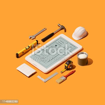 istock Home renovation and project design app 1146883285
