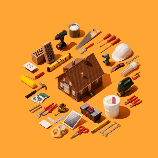 Home renovation and remodeling stock photo