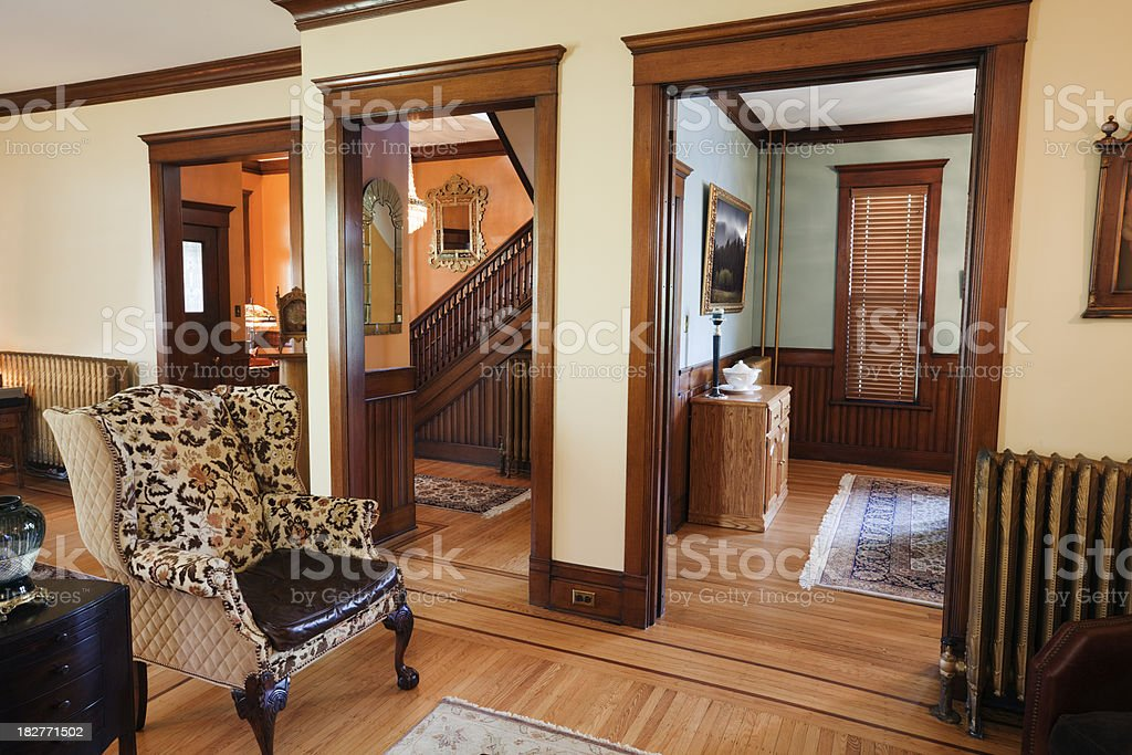 Home Renovation and Restoration of a Victorian Style House stock photo