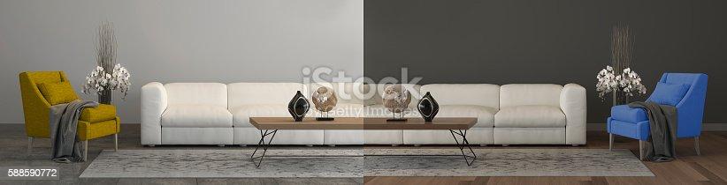 istock Home renovation concept comparison 588590772