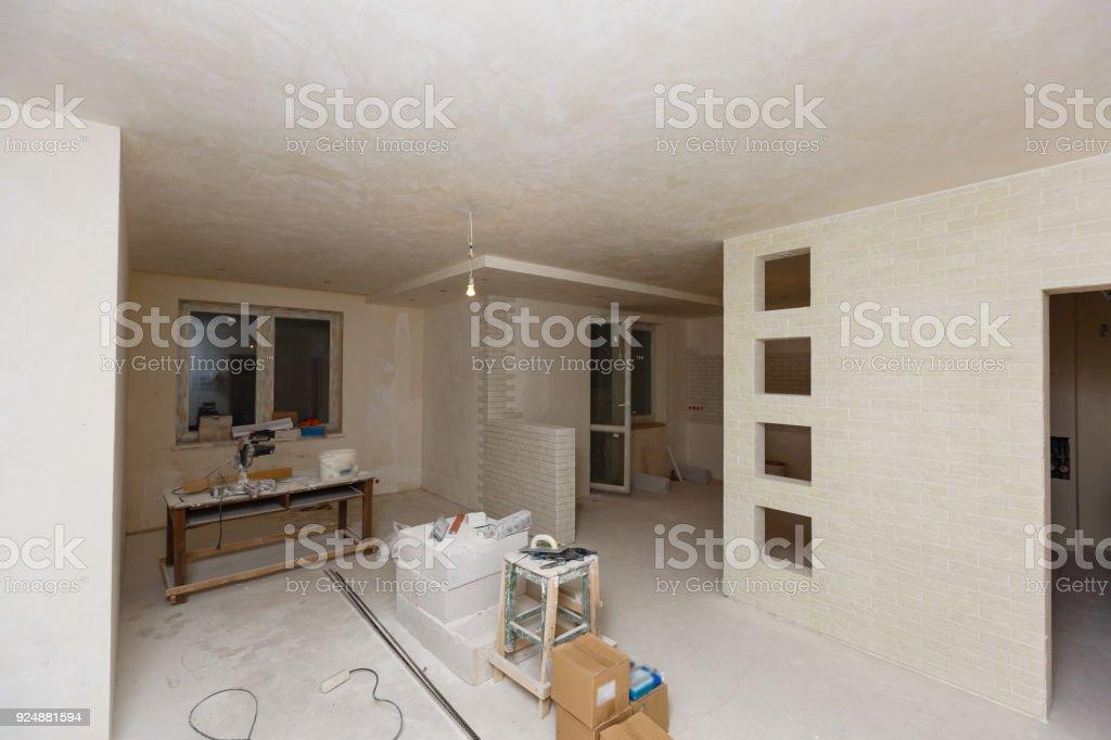 Home renovation empty room before renovation