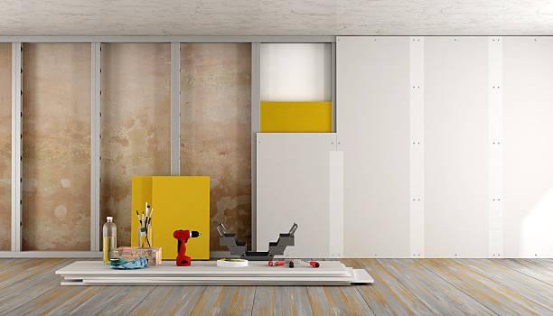 Casa renovação de um quarto - foto de acervo
