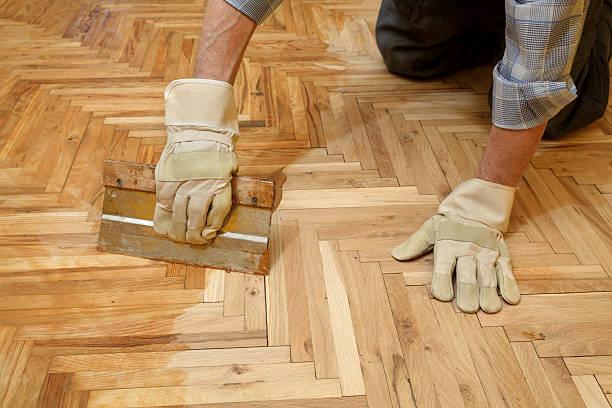 Home Renovierung, Parkett beenden – Foto