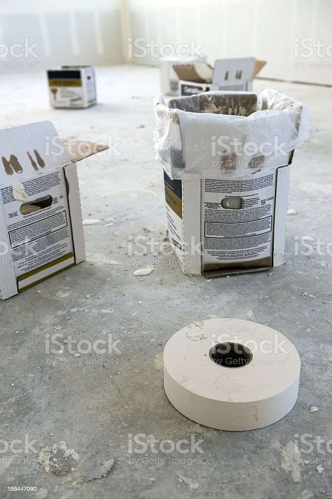 Home renovation work stock photo