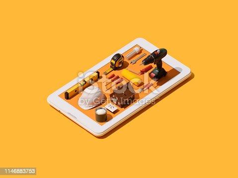 istock Home repair and DIY app 1146883753