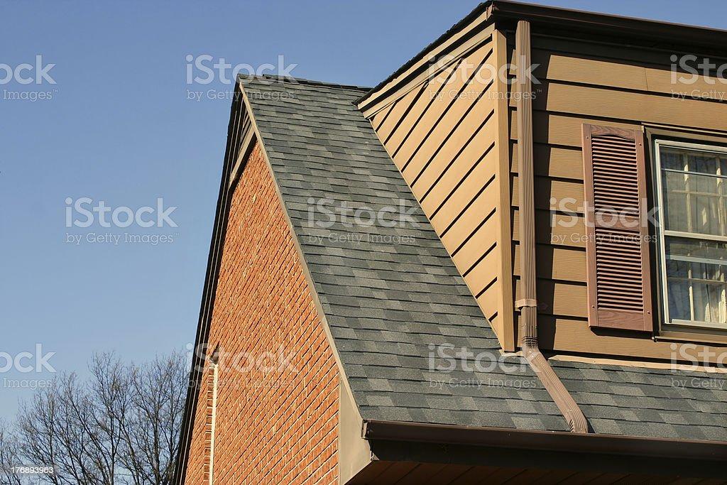 Home Repair Series - new roof! stock photo