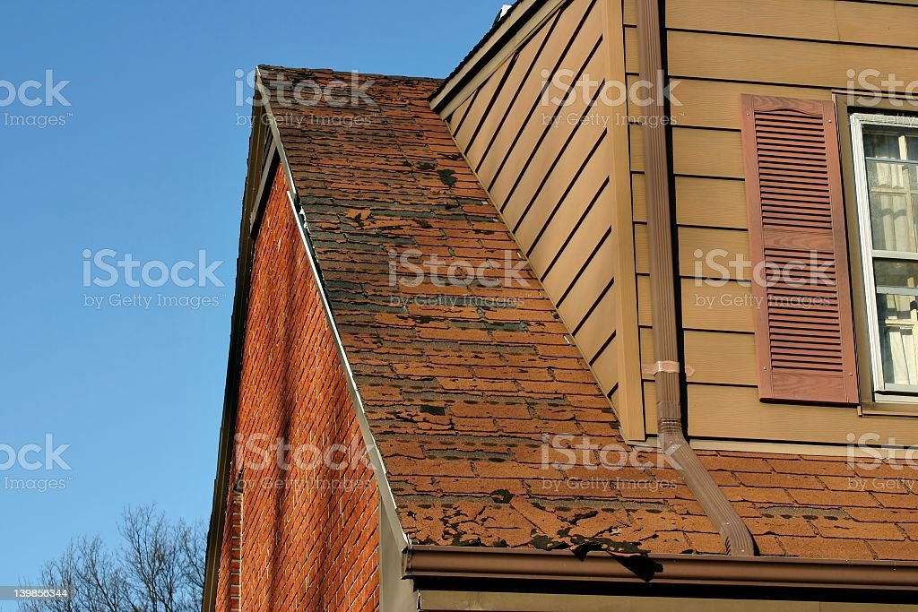 Home repair series with roofing tiles stock photo