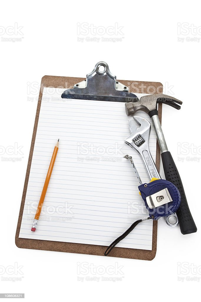 Home Repairing plan royalty-free stock photo