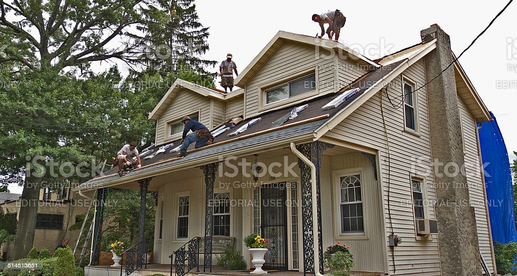 Home roofing. stock photo