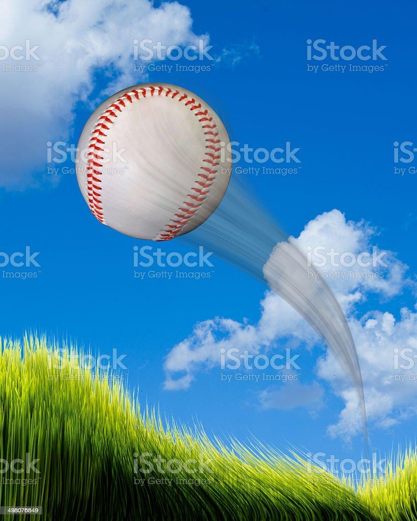Home Run Baseball. royalty-free stock photo