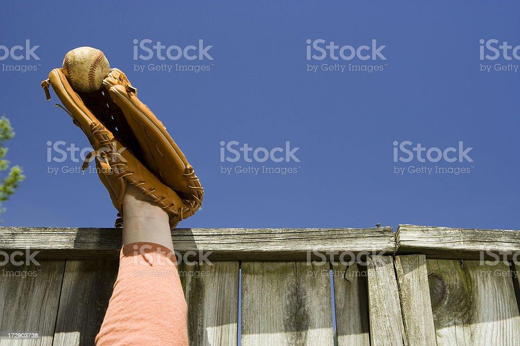 Home run stolen stock photo