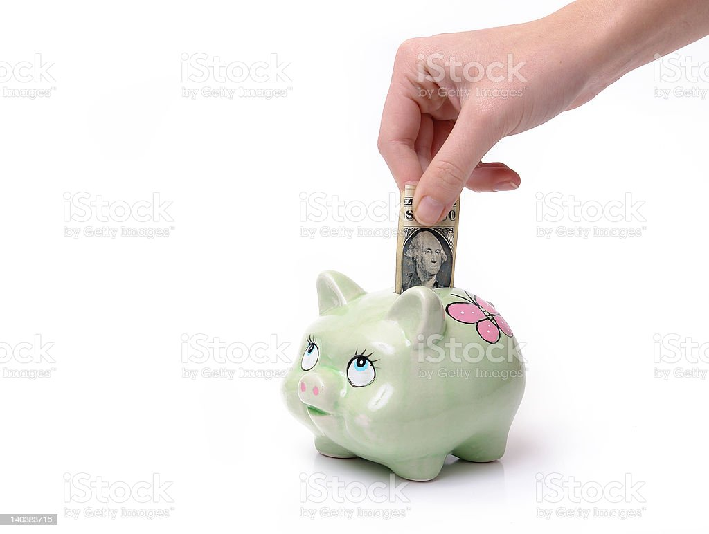 Home savings royalty-free stock photo