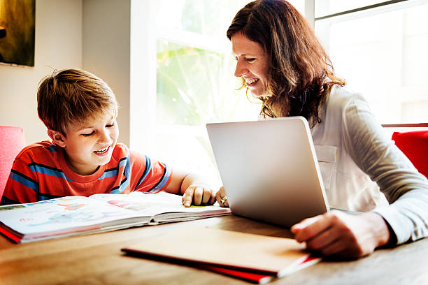 home school learning homework reading concept - homework stock photos and pictures