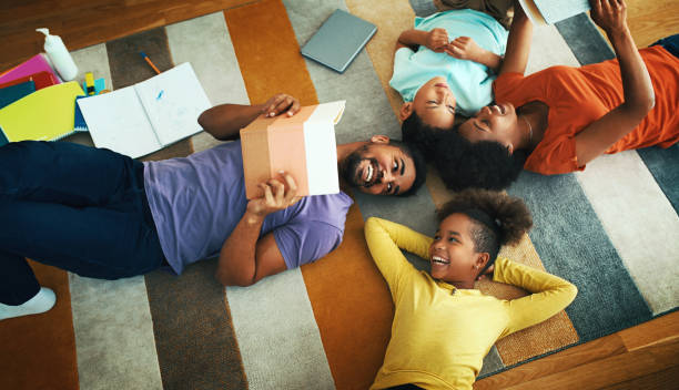 Home schooling is fun. stock photo