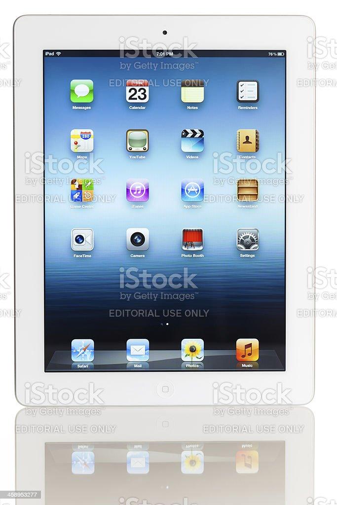 Home screen of iPad 3 royalty-free stock photo