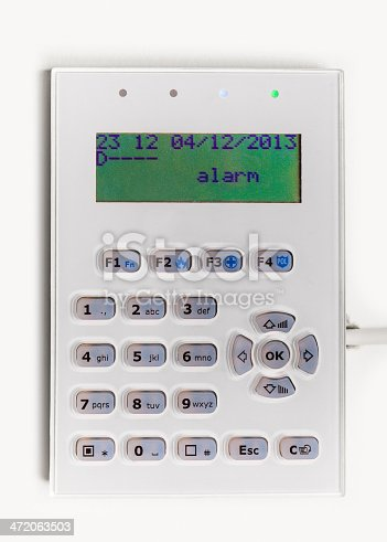 istock Home security alarm system 472063503