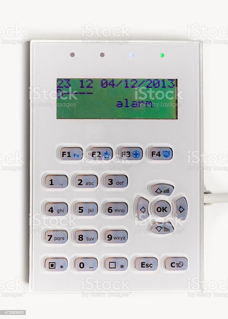 Home security alarm system stock photo