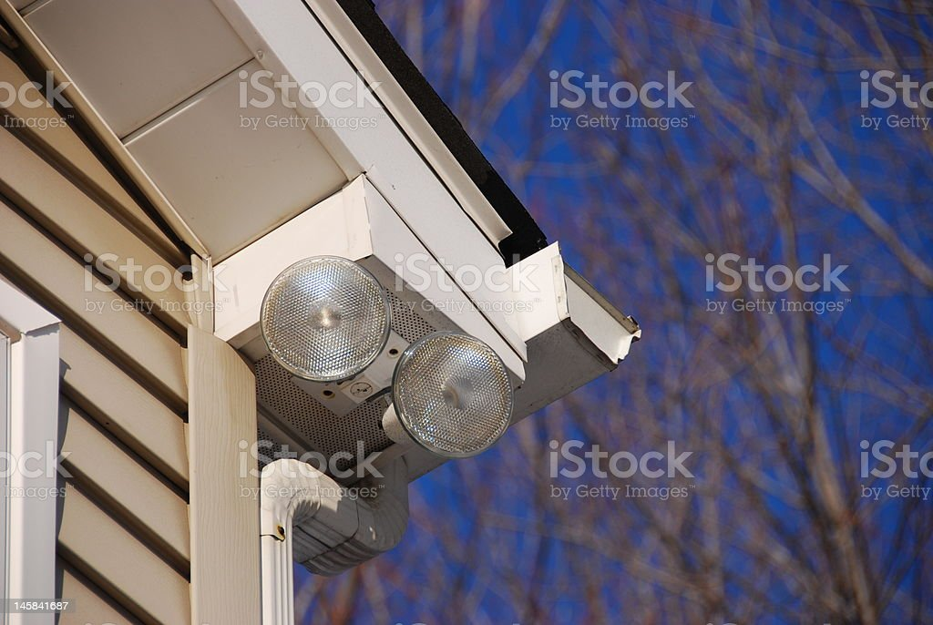 Home security lighting stock photo