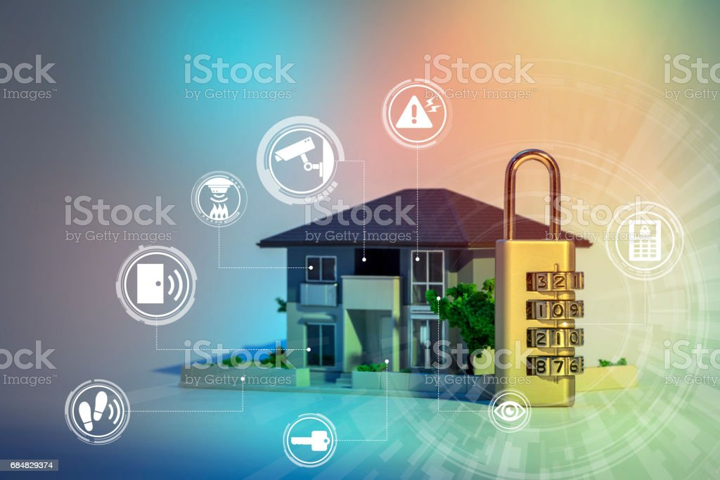 home security system abstract image visual stock photo