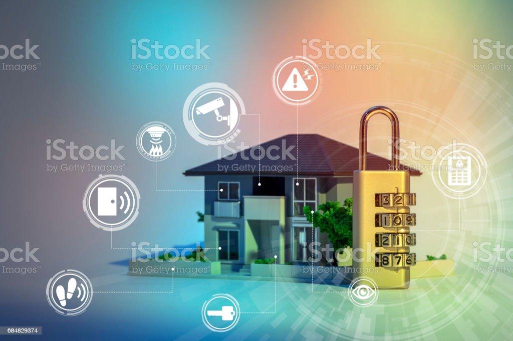 sécurité à la maison système abstrait image visuelle - Photo