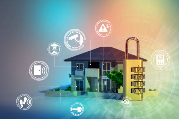 home security system abstract image visual - foto stock
