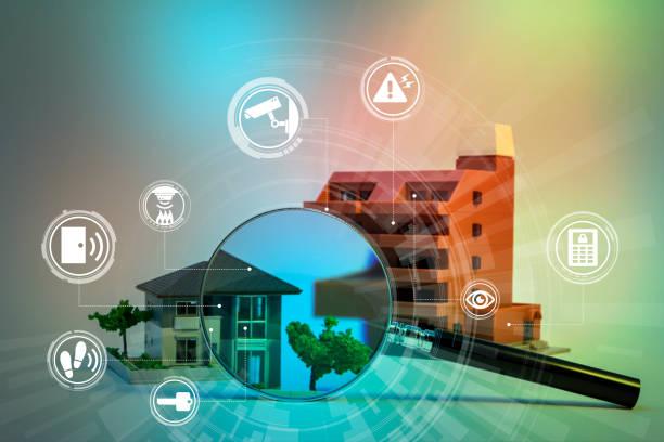 sécurité à la maison système abstrait image visuelle - coffre fort équipement de sécurité photos et images de collection
