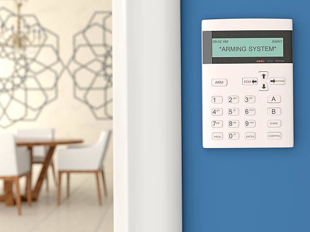 home security system keypad - alarm stock photos and pictures