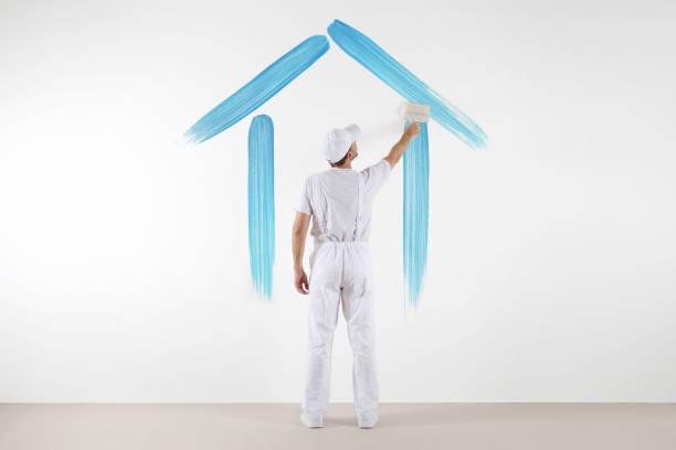 Home service concept painter man with brush drawing a blue house on picture id813842676?b=1&k=6&m=813842676&s=612x612&w=0&h=z2ap6iwel66zt9vypskxlojn8kl5qsyb8rjztqqi9ua=