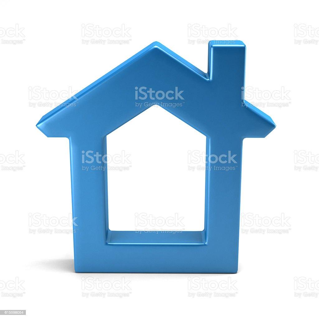 Home Shape. 3D Rendering Illustration stock photo