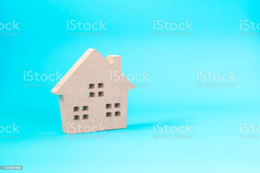 home shape wood stock photo