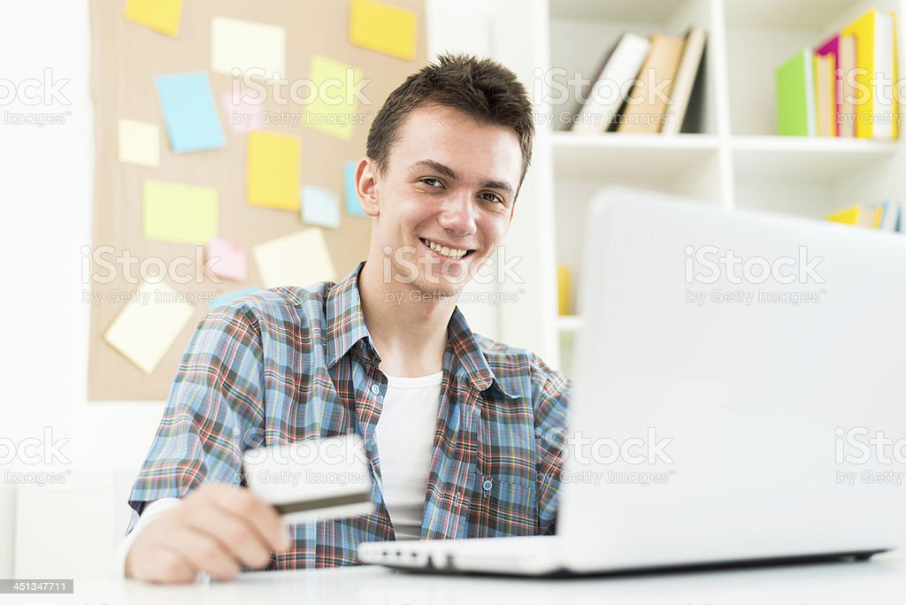 Home shopping stock photo