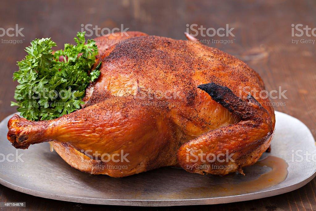 Home Smoked Chicken stock photo