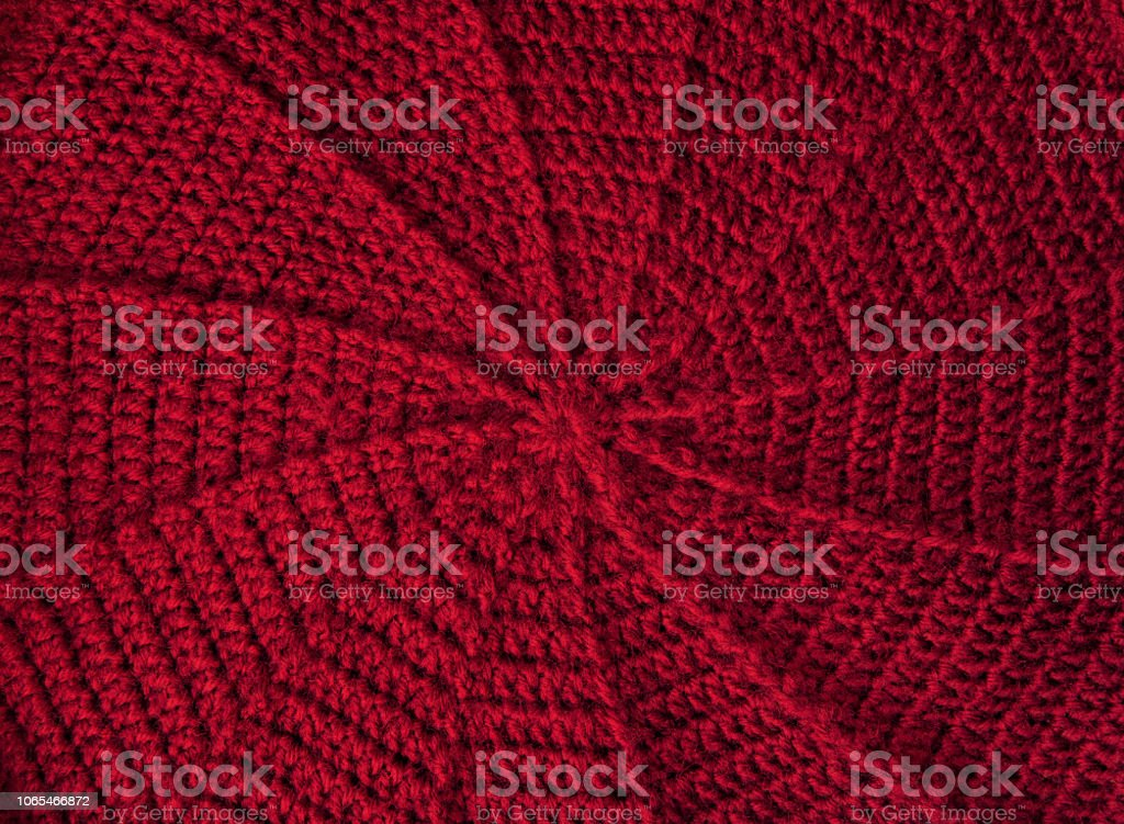 Home Spiral Double Crochet In Circle Cap Background Stock Photo