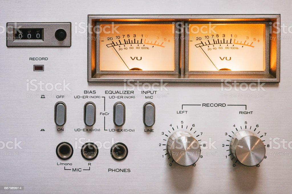 Home Stereo in Retro Style stock photo