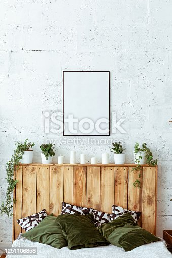 istock Home still life. Modern and cozy home decor. Cozy home decor and office setups. 1251106858