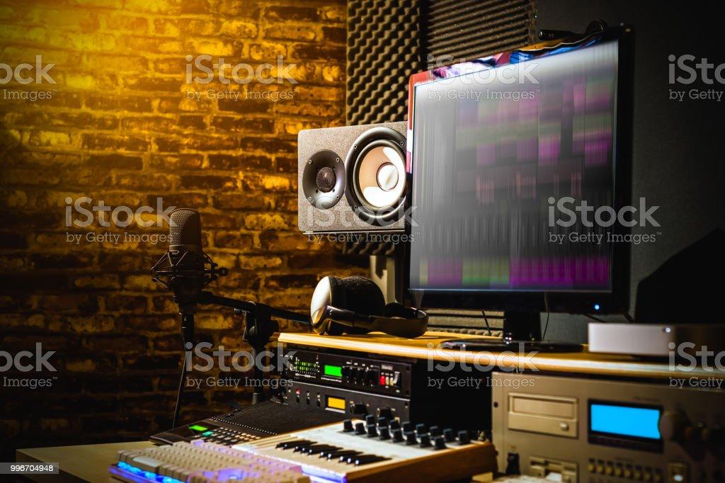 home studio, digital sound recording & editing studio equipment,...
