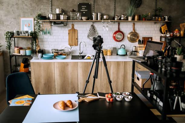 Home studio photography offce stock photo