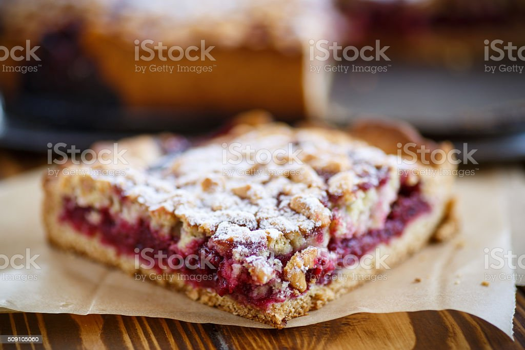 home sweet cake with jam stock photo