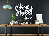 Home Sweet Home Sign with Table and Decors