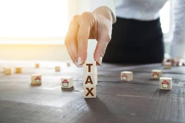 Hause steuerlichen Abzug Konzept – Foto