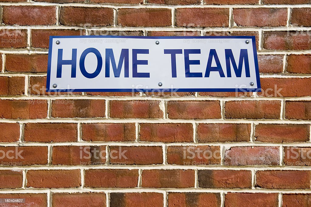 Home Team Dugout Sign royalty-free stock photo